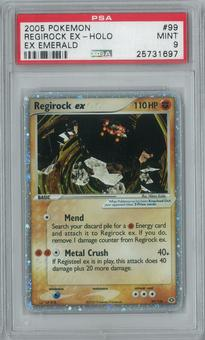 Pokemon EX Emerald Regirock 99/106 Single PSA 9