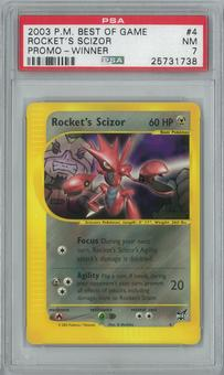 Pokemon Best of Game Rocket's Scizor 4 - WINNER Single PSA 7