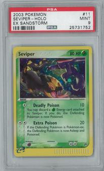 Pokemon EX Sandstorm Seviper 11/100 Single PSA 9
