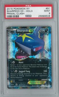 Pokemon Primal Clash Sharpedo EX 91/160 Single PSA 9