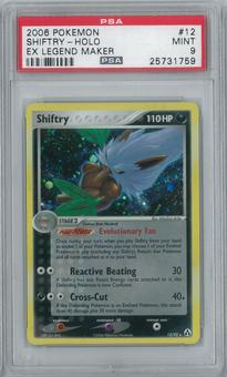 Pokemon EX Legend Maker Shiftry 12/92 Single PSA 9