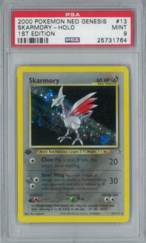 Pokemon Neo Genesis Skarmory 13/111 1st Edition Single PSA 9