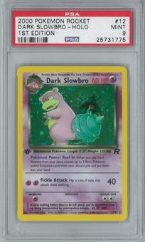 Pokemon Team Rocket Dark Slowbro 12/82 1st Edition Single PSA 9
