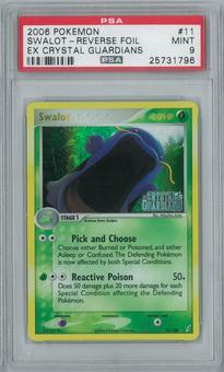 Pokemon EX Crystal Guardians Swalot 11/100 Reverse Foil Single PSA 9