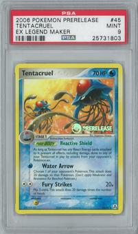 Pokemon EX Legend Maker Tentacruel 45/92 Prerelease Single PSA 9