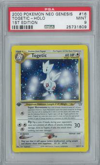 Pokemon Neo Genesis Togetic 16/111 1st Edition Single PSA 9