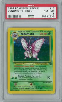 Pokemon Jungle Venomoth 13/64 Single PSA 8