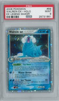 Pokemon EX Legend Maker Walrein ex 89/92 Single PSA 9
