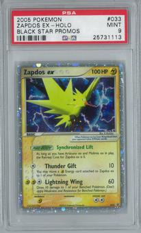 Pokemon Promo Zapdos ex 33 Single PSA 9