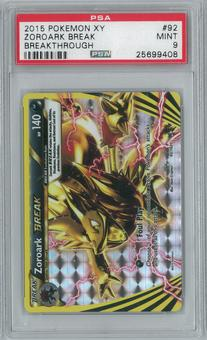 Pokemon Breakthrough Zoroark BREAK 92/162 Single PSA 9