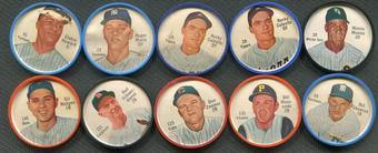 1962 Salada Baseball 60 Coin Lot (57 Different) Maris Colavito Mazeroski Hodges