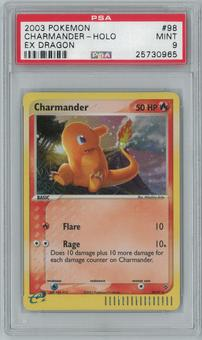 Pokemon EX Dragon Charmander 98/97 Single PSA 9