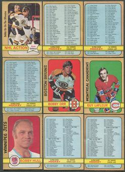 1972/73 O-Pee-Chee Hockey Complete Set (POOR)