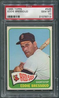 1965 Topps Baseball #525 Eddie Bressoud PSA 10 (GEM MT)