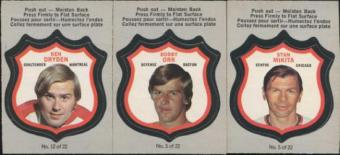 1972/73 O-Pee-Chee Hockey Player Crests Complete Set (EX-MT condition)