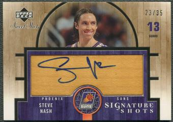 2005/06 Sweet Shot #SN Steve Nash Signature Shots Wood Auto #23/35