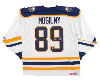 Alexander Mogilny Autographed Buffalo Sabres Large White Hockey Jersey