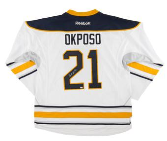 Kyle Okposo Autographed Buffalo Sabres White Hockey Jersey