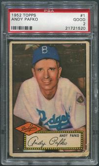 1952 Topps Baseball #1 Andy Pafko PSA 2 (GOOD)