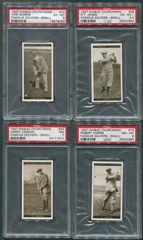 1927 WA&AC Churchman Famous Golfers Small Golf PSA Graded Partial Set (Missing #27, #39, #46)