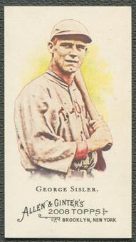 2008 Topps Allen and Ginter #370 George Sisler EXT Mini