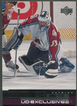 1999/00 Upper Deck #210 Patrick Roy Exclusives #046/100