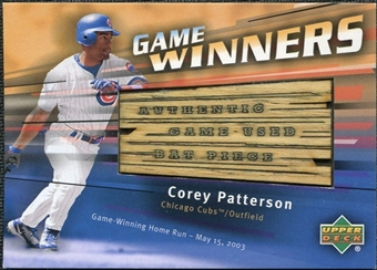 2004 Upper Deck Game Winners Bat #CP Corey Patterson