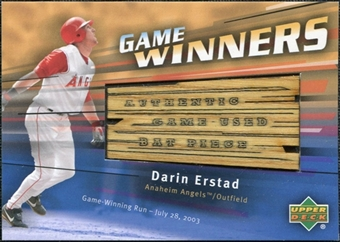 2004 Upper Deck Game Winners Bat #DE Darin Erstad