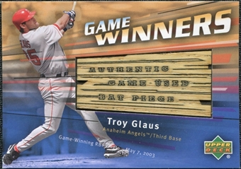 2004 Upper Deck Game Winners Bat #TG Troy Glaus