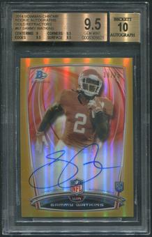 2014 Bowman Chrome #67 Sammy Watkins College Gold Refractor Rookie Auto #39/75 BGS 9.5 (GEM MINT)