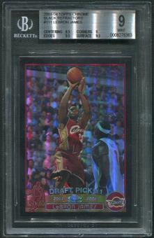 2003/04 Topps Chrome #111 LeBron James Rookie Black Refractor #378/500 BGS 9 (MINT)