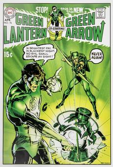 Neal Adams Autographed Green Lantern #76 Lithograph