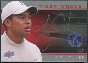 2013 Upper Deck Tiger Woods Master Collection #TW7 Tiger Woods Signatures Auto #1/3
