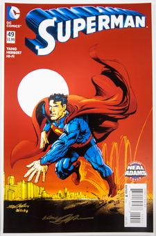 Neal Adams Autographed 11x17 Superman #49 Lithograph