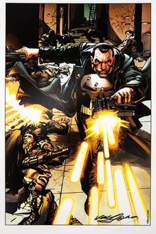 Neal Adams Autographed 11x17 Punisher Lithograph