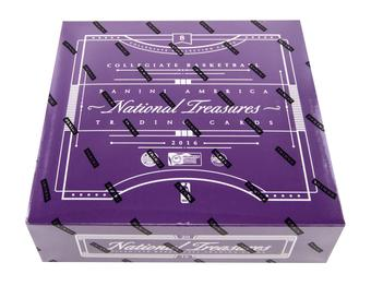 16/17 Panini National Treasures Collegiate Basketball 4-Box Case- 2017 National DACW Live 24 Random Card Break