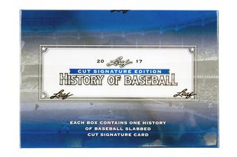 2017 Leaf Cut Signature Edition History of Baseball Hobby Box