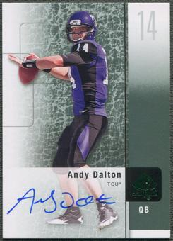 2011 SP Authentic #21 Andy Dalton Rookie Auto
