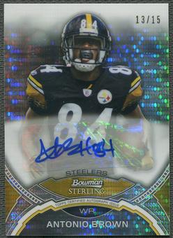 2011 Bowman Sterling #BSAABR Antonio Brown Pulsar Refractor Auto #13/15