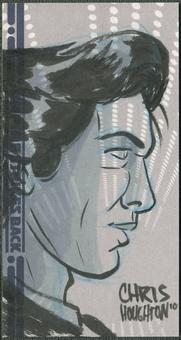2010 Topps Empire Strikes Back 3D Han Solo Sketch By Chris Houghton