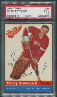 1954/55 Topps Hockey #58 Terry Sawchuk PSA 5.5 (EX+)