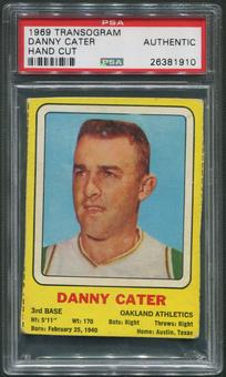 1969 Transogram Danny Cater Hand Cut PSA Authentic