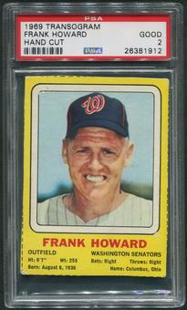 1969 Transogram Frank Howard Hand Cut PSA 2 (GOOD)
