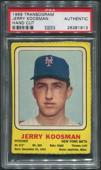 1969 Transogram Jerry Koosman Hand Cut PSA Authentic