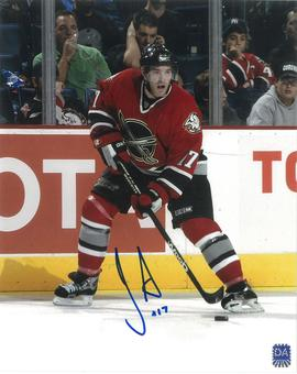 JP Dumont Autographed Buffalo Sabres 8x10 Red Jersey Photo