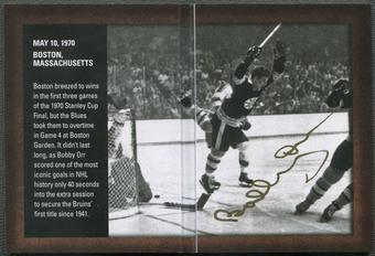 2015/16 SP Authentic #ABBO Bobby Orr Authentic Moments Booklet Auto
