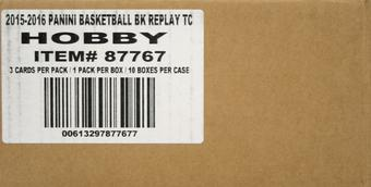 2015/16 Panini Replay Basketball Hobby 10-Box Case (Plus 10 Mosaic Prizm Sets)
