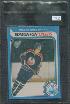 1979/80 O-Pee-Chee Hockey #18 Wayne Gretzky Rookie BGS 7 Raw Card Review