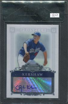 2006 Bowman Sterling Prospects #CK Clayton Kershaw Rookie Auto BGS 9 Raw Card Review