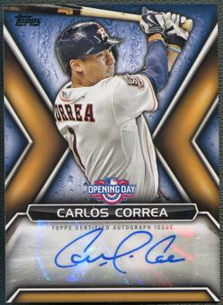 2016 Topps Opening Day #ODACC Carlos Correa Auto